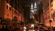 Stock Video Footage of Time lapse of Kuala Lumpur with Petronas Towers