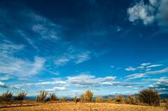 Desert and Blue Sky - stock photo