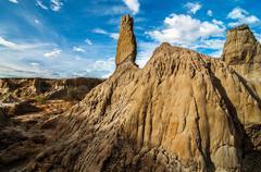A White Stone Pillar in a Desert Stock Photos