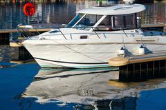 White yacht Stock Photos