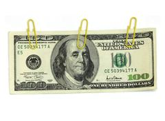 Dollars on a white background Stock Photos