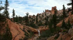 River at  Red Canyon. Dixie Forest, Scenic Byway 12, Utah, USA. Stock Footage