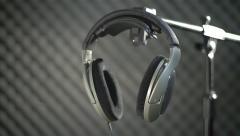 Studio headphone 2 - stock footage