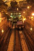 Stock Photo of Funicular in Budapest
