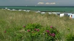 Seaside Resort Town Kühlungsborn in Mecklenburg - Baltic Sea, Germany Stock Footage