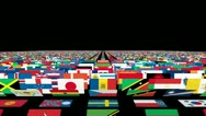Stock Video Footage of Flags of the World Carpet Animation