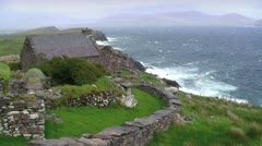 Irish Landscape Seascape - stock footage