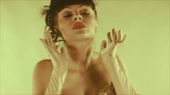 Stylish burlesque gogo dancer Stock Footage