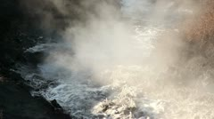 Hot wastewater. - stock footage