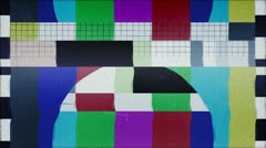TV Test starting transmission Stock Footage