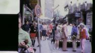 Stock Video Footage of Street Scene MADRID SPAIN Crowd Centro Vintage Film Home Movie 5531