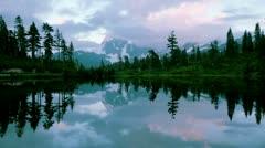 Lake on Mount Stock Footage