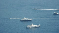 Yachts in Monaco bay - stock footage