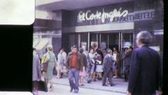SHOPPERS Main Street Scene MADRID Crowd SPAIN Vintage Film Home Movie 5533 Stock Footage