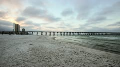 Early AM Time Lapse on Panama City Beach, Florida - stock footage