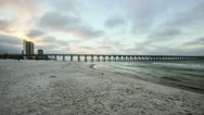 Early AM Time Lapse on Panama City Beach, Florida Stock Footage