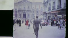 PLAZA MAYOR Street Scene MADRID SPAIN Vintage Film Home Movie 5536 Stock Footage