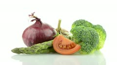 Vegetables still life Stock Footage