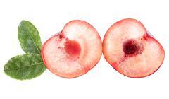 White peach Stock Photos