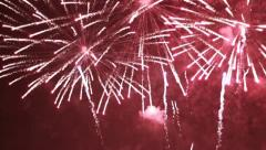 Firework Display - Finale and Crowd Cheers, Multicolored HD Stock Footage