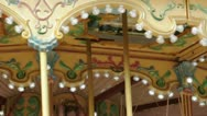 Amusement park details. Glowing lights and various ornaments. Stock Footage