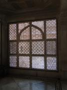 intricate marble filigree screen, - stock photo