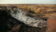 Evaporating wastewater. Stock Footage