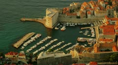 Stock Video Footage of St. John fortress Dubrovnik