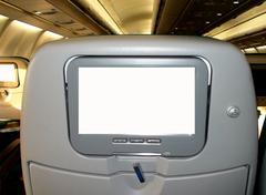 Aircraft TV screen Stock Photos