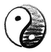 sketched harmony symbol - stock photo