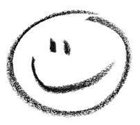 smiley sketch - stock photo