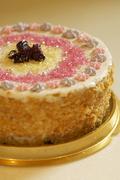 Handmade filbert cake Stock Photos