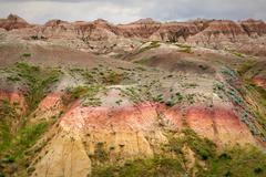 Badlands National Park, South Dakota, USA - stock photo