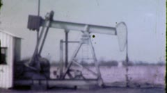 TEXAS OIL WELL Drilling Field Pumping Crude 1960s Vintage Film Home Movie 5543 Stock Footage