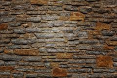 Convex Brick Backdrop or Background in Limestone Stock Photos