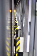 rail way door - stock photo