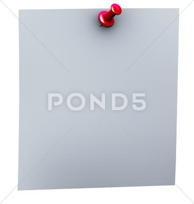 Stock Illustration of 3d red thumbtack