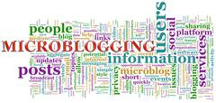 microblogging wordcloud - stock illustration