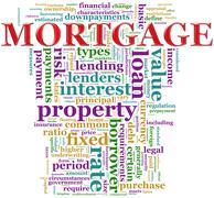 Mortgage wordcloud Stock Illustration