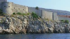 Dubrovnik sea level - stock footage