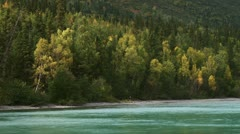Autumn Color Scenic Alaska's Kenai Lake - stock footage