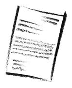 sketched document - stock photo