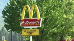 720p McDonalds Neon Sign Stock Footage