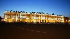 HERMITAGE AT NIGHT Stock Footage