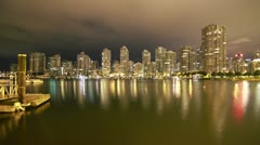 3 Shots of Downtown Vancouver Time Lapse Stock Footage