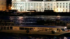 BOAT PARADE ON THE NEVA - stock footage