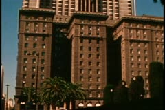 San Francisco, 1970's, St. Francis Hotel, wide shot front, no people Stock Footage