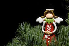 Christmas card angel Stock Photos