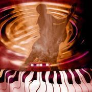 jazz  music background - stock photo