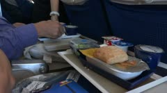 Airplane food for passengers Stock Footage
